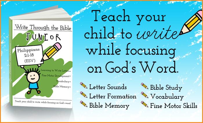Write Through the Bible Junior