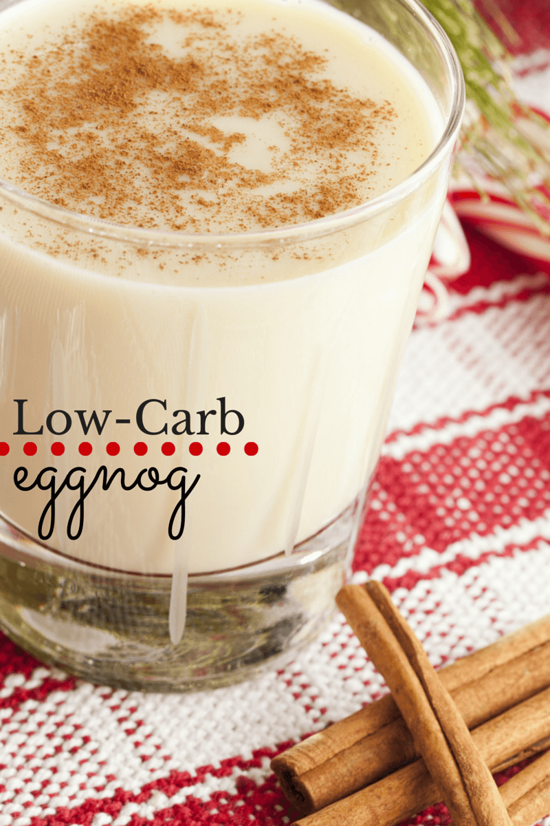 This low-carb eggnog is SO creamy and delicious!