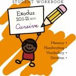 Exodus KJV Write Through the Bible Cursive