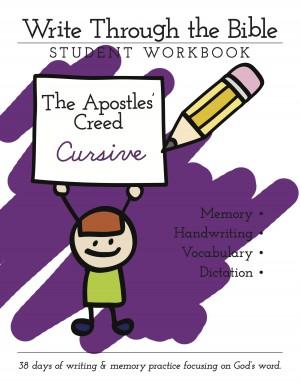 Apostles Creed Cursive Cover