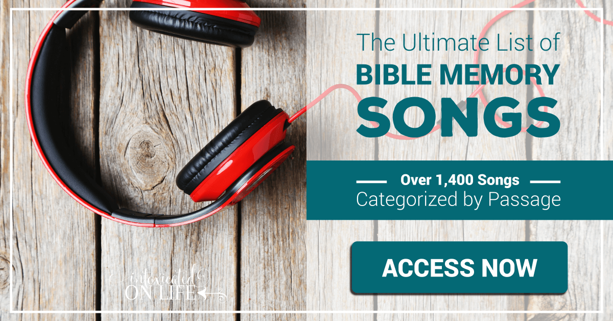 The Ultimate List Of Bible Memory Songs Over 1400 Songs Categorized By Passage