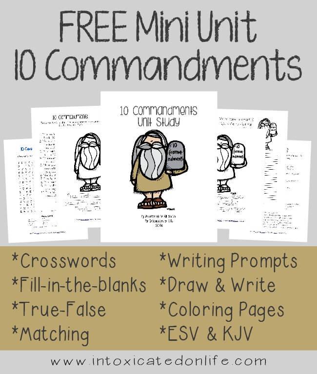 ten commandments activities for adults