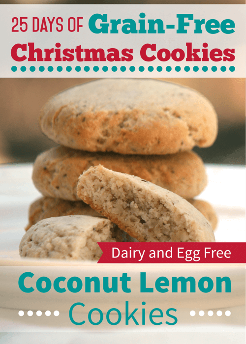 Coconut Lemon Cookies (Grain-Free Recipe)