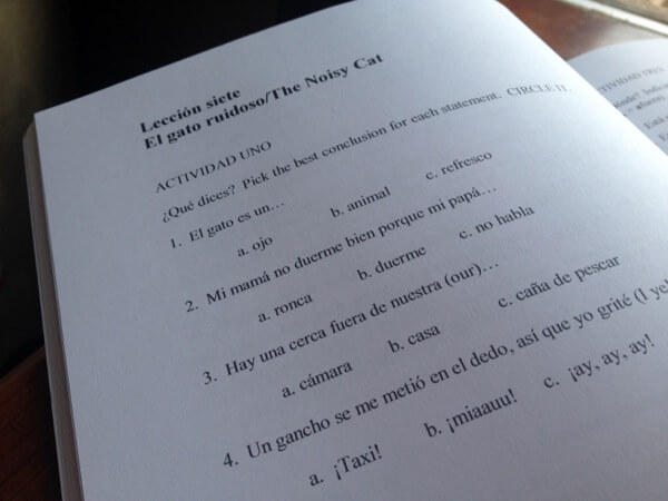 Excelerate Spanish uses a TPR approach—Total Physical Response—pairing vocabulary with action, stories, visuals, writing, and fun activities. http://www.intoxicatedonlife.com/2015/02/11/user-friendly-spanish-curriculum-excelerate-spanish/