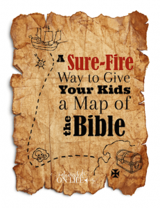 A sure-fire way to give your kids a map of the Bible!