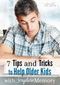 7 Tips and Tricks that will be SO helpful in helping older kids memorizes scripture!