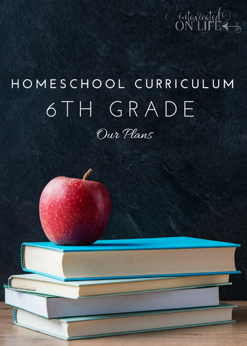 Our 6th grade homeschool curriculum plans... it's going to be a great year!