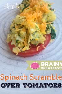 SpinachScrambleOverTomatoes-BrainyBreakfasts