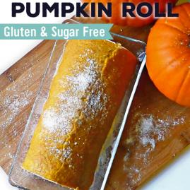 ProteinPackedPumpkinRoll-Gluten&SugarFree