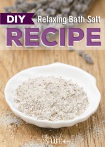 Relaxing Bath Salt Recipe
