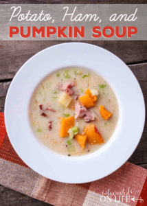 Hearty Potato, Ham, and Pumpkin Soup
