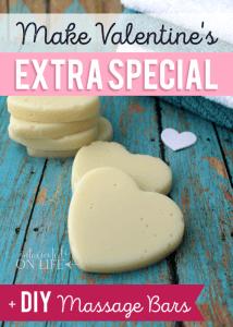 Make Valentine's Extra Special + DIY Massage Bars