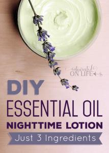 DIY Essential Oil Nighttime Lotion