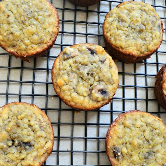 Grain-Free Banana Chia Muffins