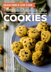 Pumpkin Chocolate Chip Cookies (grain-free & low-carb)