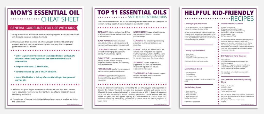 moms essential oil cheat sheet