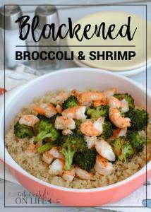 Blackened Broccoli and Shrimp (grain-free)