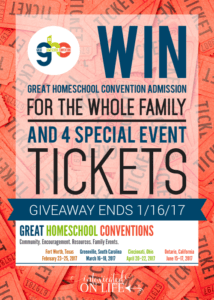 Great Homeschool Convention Ticket Giveaway