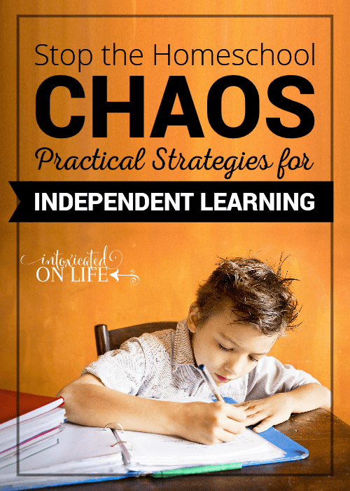 Stop The Homeshool Chaos Practical Strategies For Independent Learning