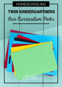 Homeschooling Twin Kindergarteners: Our Curriculum Picks