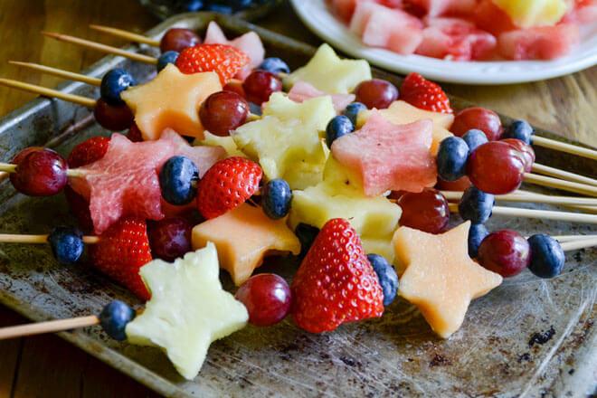 Kid-Friendly Fruit Kabobs
