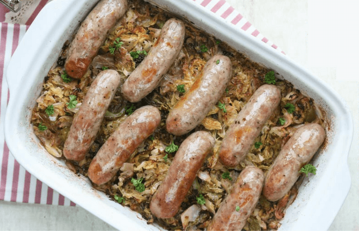 40 Make Ahead Keto Meals » Sausage & Sauerkraut Casserole