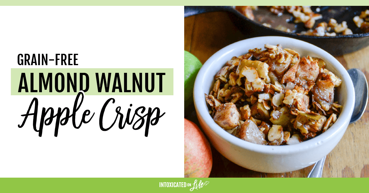 Grain Free Almond Walnut Apple Crisp FB