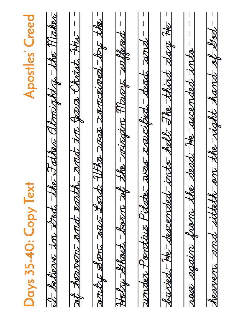 The Apostles' Creed Mastery Workbooks