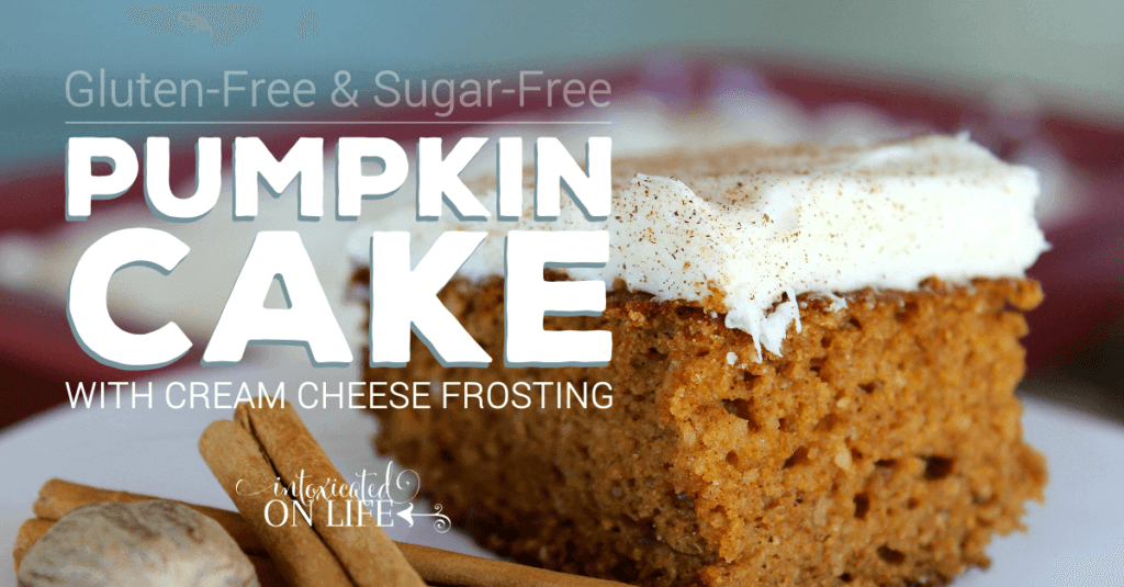Gluten Free Sugar Free Pumpkin Cake With Cream Cheese Frosting
