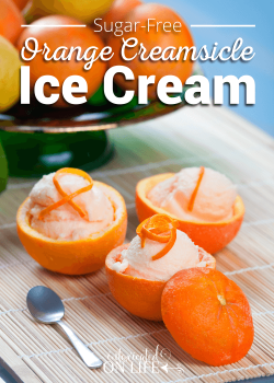 Sugar-Free Orange Creamsicle Ice Cream