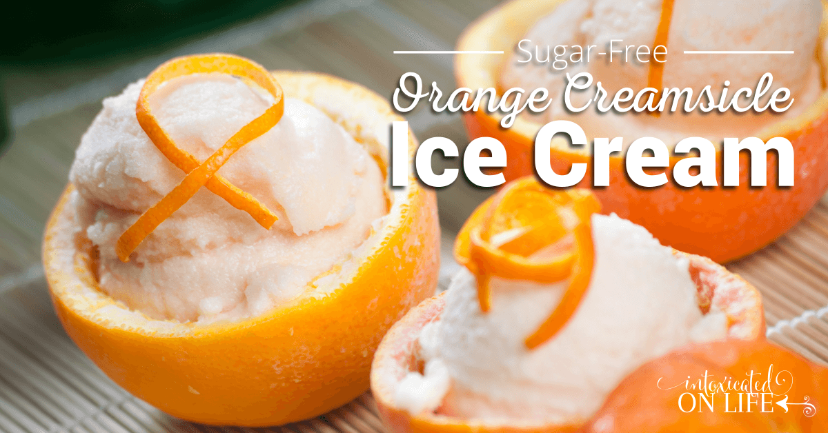 Sugar Free Orange Creamsicle Ice Cream
