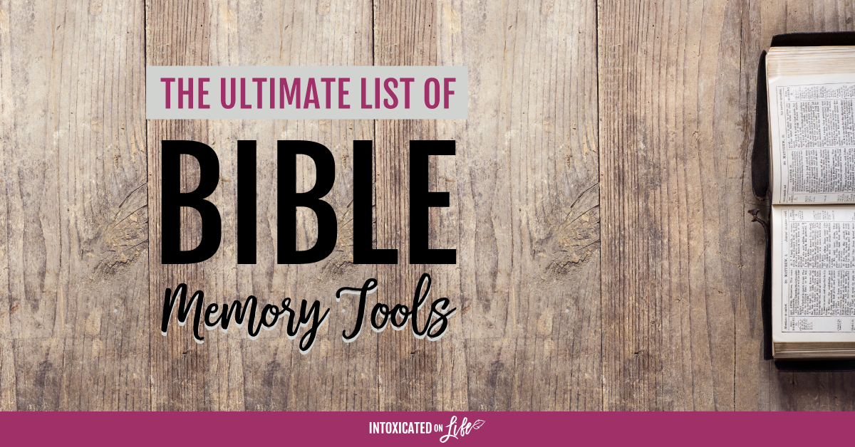 The Ultimate List Of Bible Memory Tools