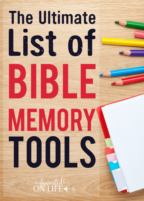 The Ultimate List of Bible Memory Tools | IntoxicatedOnLife com