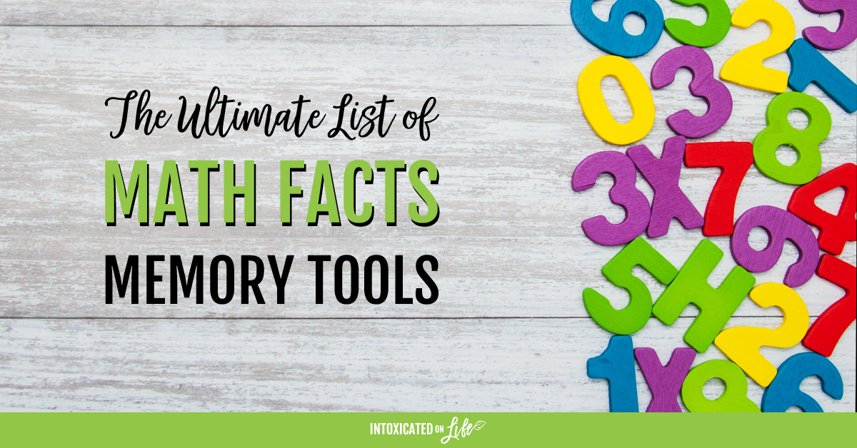 The Ultimate List of Math Facts Memory Tools ...