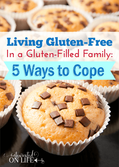 Learn how to cope with a gluten-free family when you are living in a gluten-FILLED family! Here are 5 tips. @ IntoxicatedOnLife.com #GlutenFree #WheatFree #HealthyLiving