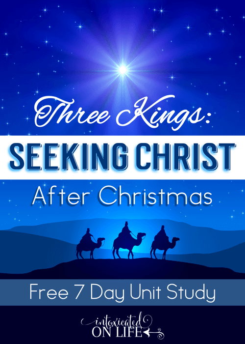 This is a fantastic 7 day lesson to help your kids focus on Christ AFTER Christmas! @ IntoxicatedOnLife.com