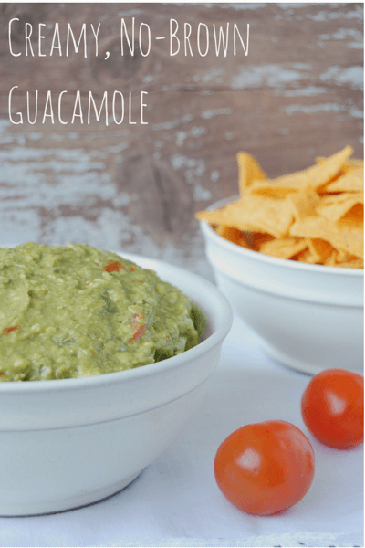 Creamy, No-Brown Guacamole