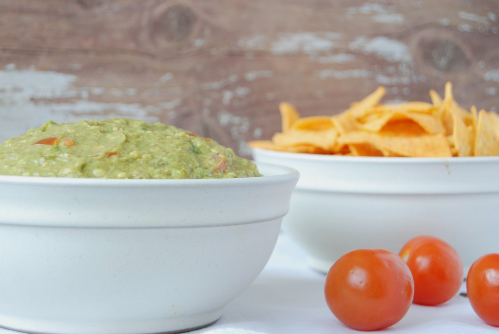 Creamy guacamole with a tip for making sure it won't go brown quickly