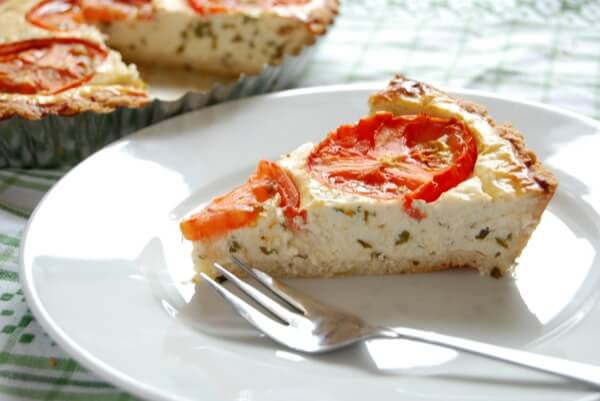 Enjoy this amazing tomato basil pie with parmesan rosemary crust! (gluten-free) @ IntoxicatedOnLife.com
