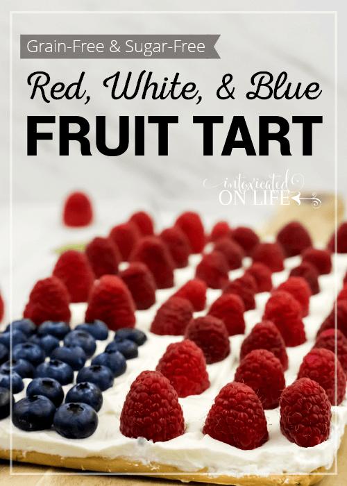 Grain Free Sugar Free Red White And Blue Fruit Tart