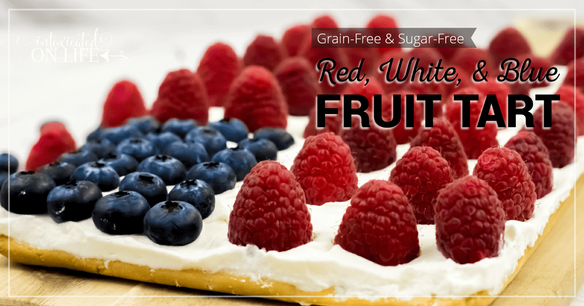 Grain Free Sugar Free Red White And Blue Fruit Tart FB