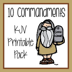 10 commandments mini unit study 75 pgs