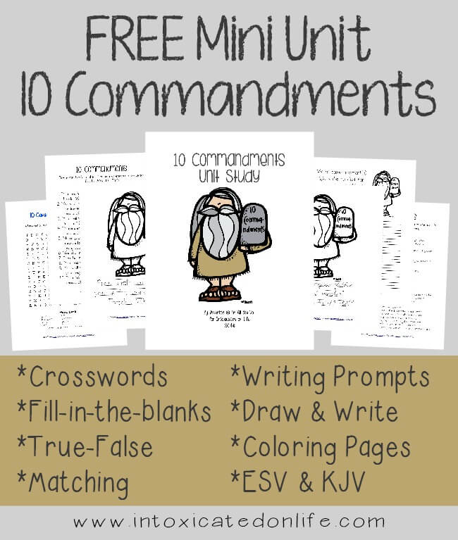 FREE 10 Commandments Mini Unit