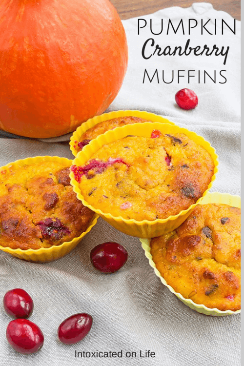 Grain-free Pumpkin Cranberry Muffins
