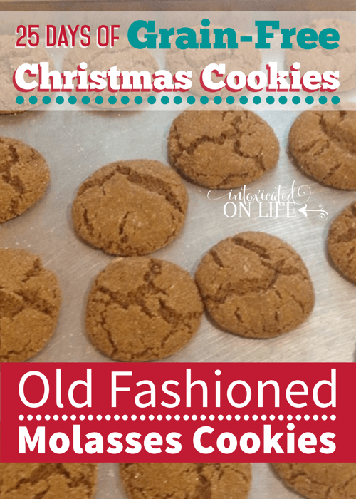 Old Fashioned Molasses Cookies Grain Free