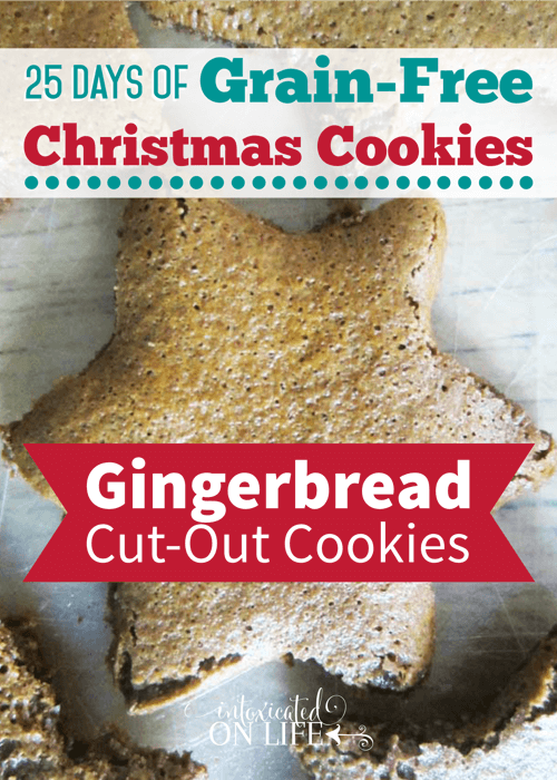These grain-free gingerbread cut out cookies are SO good and FUN to make with the kiddos!