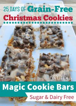 25 Days of Grain Free Christmas Cookies Cookies: Magic Cookie Bars (sugar-free, dairy-free)