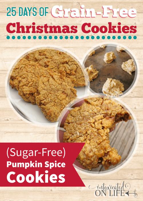 Sugar-Free, Grain-Free Pumpkin Spice Cookies
