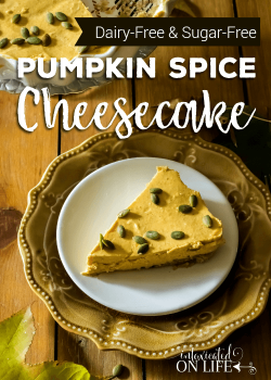 Pumpkin Spice Dairy Free Cheesecake