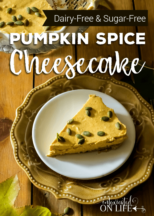 Dairy Free And Sugar Free Pumpkin Spice Cheesecake